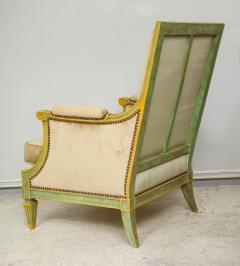 Pair of Louis XVI Style Painted Bergeres Attributed to Maison Jansen - 1112863