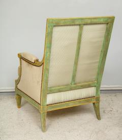 Pair of Louis XVI Style Painted Bergeres Attributed to Maison Jansen - 1112864