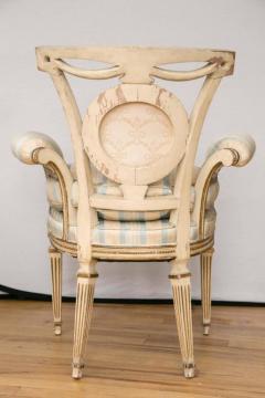 Pair of Louis XVI Style Parcel Gilt Upholstered Fauteuils - 671547