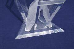 Pair of Lucite Glacier Iceberg Sculptural End Side Tables Glass Top - 2014911