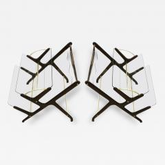 Pair of Magazine Book Racks Italy 1950s - 90332