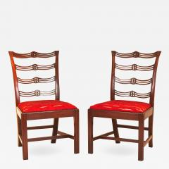 Pair of Mahogany Chippendale Side Chairs - 1022273