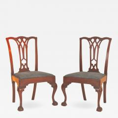 Pair of Mahogany Chippendale Side Chairs - 1022274