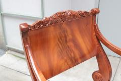 Pair of Mahogany Empire Armchairs - 1853912