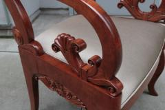 Pair of Mahogany Empire Armchairs - 1853914