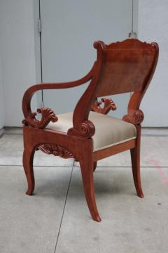 Pair of Mahogany Empire Armchairs - 1853918