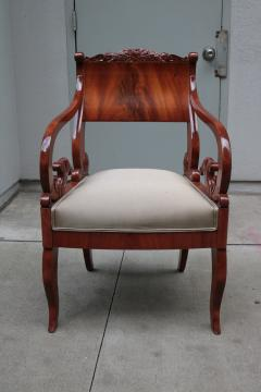 Pair of Mahogany Empire Armchairs - 1853919