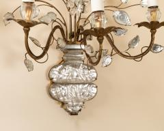 Pair of Maison Bagues gilt metal and glass sconces - 1888728