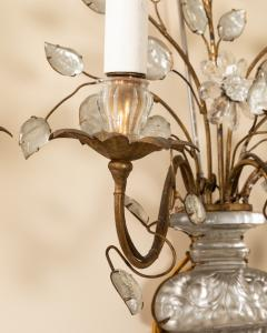 Pair of Maison Bagues gilt metal and glass sconces - 1888730