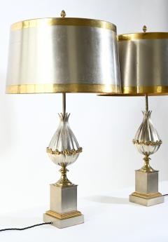 Pair of Maison Charles Mangue table lamps - 1261833