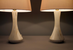 Pair of Marble Table Lamps 1970s - 1858386