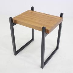 Pair of Metal Staved Oak Artisan Side Tables - 1063002