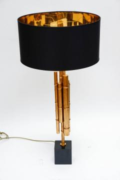 Pair of Metal and Brass Bamboo Style Table Lamps - 721567