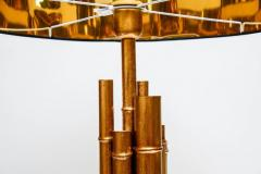 Pair of Metal and Brass Bamboo Style Table Lamps - 721569