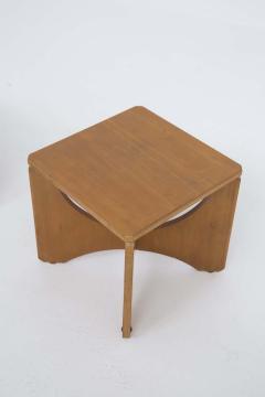Pair of Mid Century American Wooden Stools - 2126762