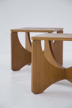 Pair of Mid Century American Wooden Stools - 2126763