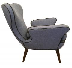 Pair of Mid Century Armchairs with Foot Stools - 211739