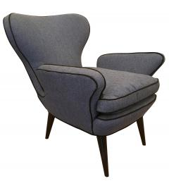 Pair of Mid Century Armchairs with Foot Stools - 211741