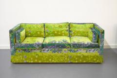 Pair of Mid Century Box Sofas with Original Jack Lenor Larsen Fabric - 1468448