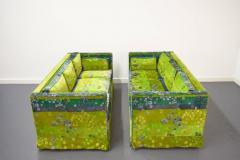 Pair of Mid Century Box Sofas with Original Jack Lenor Larsen Fabric - 1468449