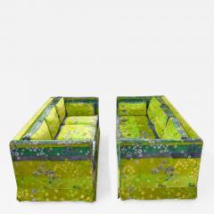 Pair of Mid Century Box Sofas with Original Jack Lenor Larsen Fabric - 1470675