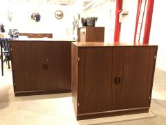 Pair of Mid Century Cabinets by John Stuart Inc Stamped  - 1455592