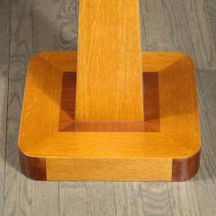 Pair of Mid Century End Tables in Hand Rubbed Bookmatched Elm w Walnut Inlay - 1950240