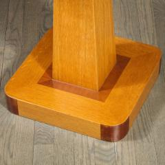 Pair of Mid Century End Tables in Hand Rubbed Bookmatched Elm w Walnut Inlay - 1950241