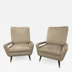 Pair of Mid Century Italian Club Chairs - 1181530