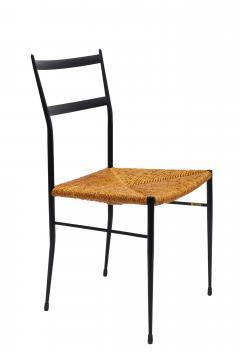 Pair of Mid Century Metal Superleggera Chairs Attributed to Gio Ponti  - 1857139
