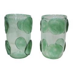 Pair of Mid Century Modern Costantini Murano Glass Italian Vases - 2039972
