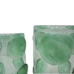 Pair of Mid Century Modern Costantini Murano Glass Italian Vases - 2039975
