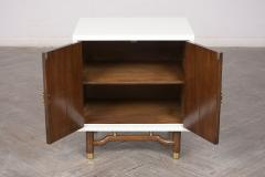 Pair of Mid Century Modern Lacquered Finish Nightstands - 1102776