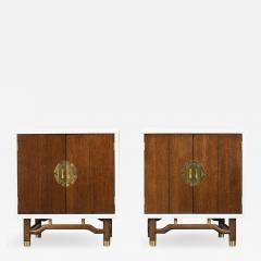Pair of Mid Century Modern Lacquered Finish Nightstands - 1103319