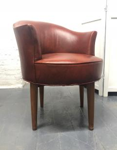 Pair of Mid Century Modern Leather Swivel Chairs - 1769796