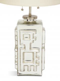 Pair of Mid Century Modern Mercury Silver Lamps - 1150902
