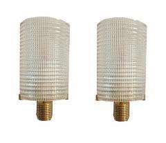Pair of Mid Century Modern Murano glass brass sconces Italy 1960s - 1089853