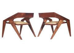 Pair of Mid Century Modern Studio Hank Lounge Chairs by Jory Brigham in Walnut - 1749200