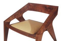 Pair of Mid Century Modern Studio Hank Lounge Chairs by Jory Brigham in Walnut - 1749201