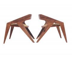 Pair of Mid Century Modern Studio Hank Lounge Chairs by Jory Brigham in Walnut - 1749202