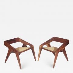 Pair of Mid Century Modern Studio Hank Lounge Chairs by Jory Brigham in Walnut - 1750352