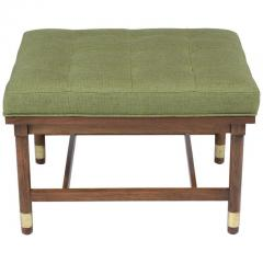 Pair of Mid Century Walnut Tufted Benches - 1370662