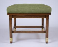 Pair of Mid Century Walnut Tufted Benches - 1370667