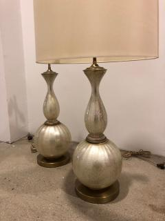 Pair of Mid Century opalescent glass lamps  - 1597416