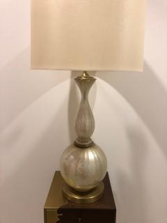 Pair of Mid Century opalescent glass lamps  - 1597417