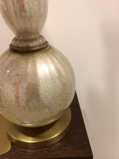 Pair of Mid Century opalescent glass lamps  - 1597418