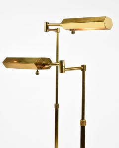 Pair of Mid century brass floor lamps - 1185351