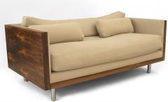 Pair of Milo Baughman Designed Rosewood Loveseats - 1279229