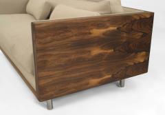 Pair of Milo Baughman Designed Rosewood Loveseats - 1279232