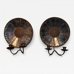 Pair of Mirrored Sconces - 408027